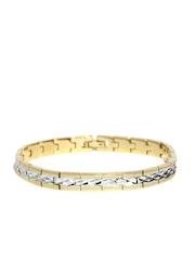 Sukkhi Silver-Toned Gold & Rhodium-Plated Bracelet