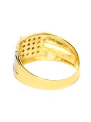 Sukkhi Men 18K Gold & Rhodium-Plated CZ Stone-Studded Ring
