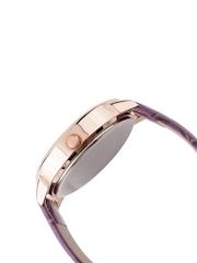 FLUID Women Pink & Blue Checked Dial Watch FL408-PR01