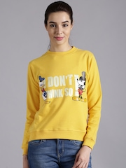 Kook N Keech Disney Yellow Printed Sweatshirt