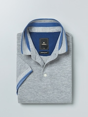 INVICTUS Grey Melange Polo T-shirt