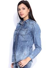 Pepe Jeans Blue Denim Casual Shirt