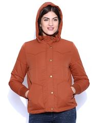 Levis Rust Orange Hooded Jacket