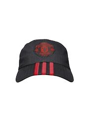 Adidas Unisex Black Manchester United 3S Cap