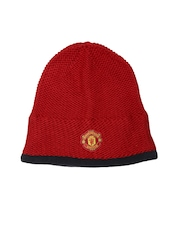 Adidas Unisex Red Manchester United Beanie