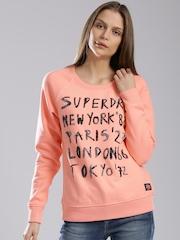 Superdry Coral Orange Sweatshirt