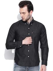 Levis Black Slim Fit Denim Shirt