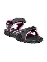 Reebok Women Charcoal Grey Adventure Chrome Sports Sandals