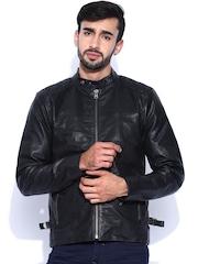 Wrangler Black Leather Jacket