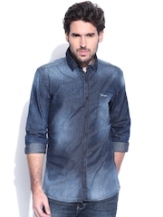 Wrangler Blue Denim Indigo Shirt