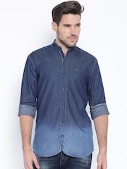 Wrangler Blue Ombre-Dyed Denim Indigo Shirt