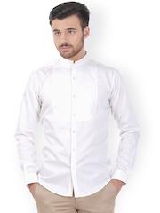 Basics White Slim Fit Smart Casual Shirt