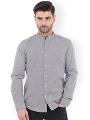 Basics Purple Slim Fit Smart Casual Shirt