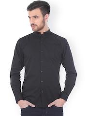 Basics Black Slim Fit Casual Shirt