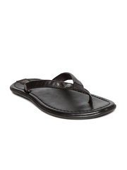 Estd. 1977 Men Dark Brown Leather Sandals