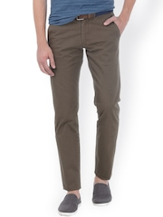Basics Green Tapered Fit Chino Trousers