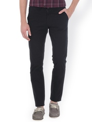 Basics Black Tapered Fit Chino Trousers