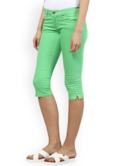 Upper Class Green Skinny Fit Capris