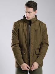 Tommy Hilfiger Olive Brown Quilted Jacket