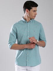 Tommy Hilfiger Blue & Off-White Checked New York Casual Shirt