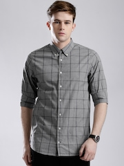 Tommy Hilfiger Grey Checked Slim Casual Shirt