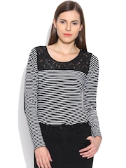 Colors Couture Black Striped Top