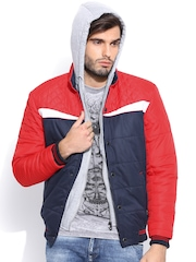 Fort Collins Red & Navy Jacket with Detachable Hood