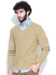 IZOD Beige Cable Knit Sweater