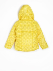 CHALK by Pantaloons Girls Yellow Printed Hooded Jacket