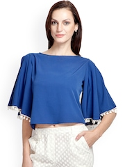 Popnetic Blue Crop Top