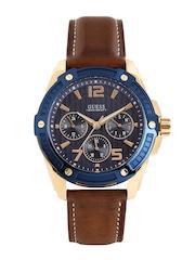 GUESS Men Navy Textured Dial Watch W0600G3