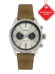 Fossil Men Silver-Toned Dial Chronograph Watch CH2952I