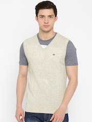 Arrow Sport Beige Sleeveless Sweater