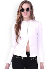 SASSAFRAS White Embellished Jacket