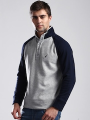 Nautica Grey Melange & Navy Sweatshirt
