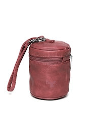 Baggit Women Maroon Cylindrical Pouch