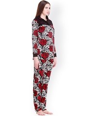 Private Lives Red & Black Printed Lounge Set W15NS270