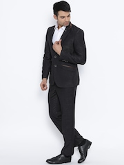 Raymond Black Single-Breasted Contemporary Fit Partywear Suit