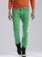 Breakbounce Men Green Craven Regular Fit Chino Trousers