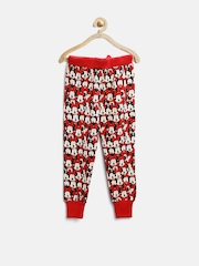 Disney by Kids Ville Girls Red Minnie Mouse Print Track Pants