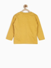 Palm Tree by Gini & Jony Boys Mustard Yellow Printed Sweatshirt