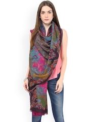 SHINGORA Pink Printed Woollen Shawl