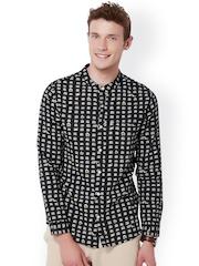 Chumbak Black Printed Casual Shirt
