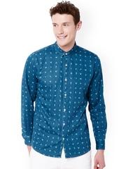 Chumbak Blue Printed Casual Shirt