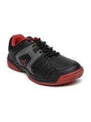 Spinn Men Black Glister Tennis Shoes