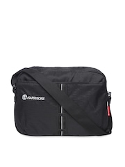 Harrisons Unisex Black Messenger Bag