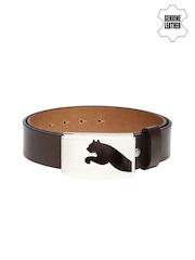 PUMA Men Brown Golf Genuine Leather Belt