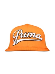 PUMA Men Orange Script Cool Cell Snapback Cap