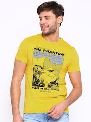Jack & Jones Yellow Printed T-shirt