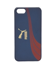 PUMA Unisex Navy Printed iPhone 5 Phone Case